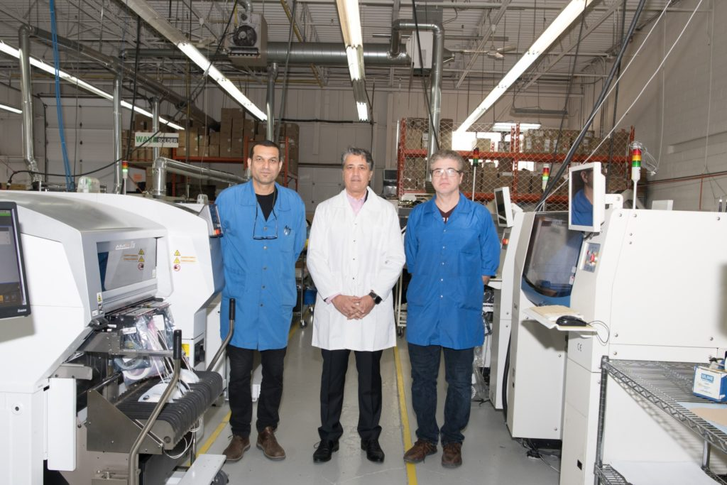 QA engineers at manufacturing factory