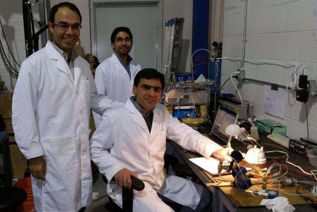 R&D Engineers working in the lab