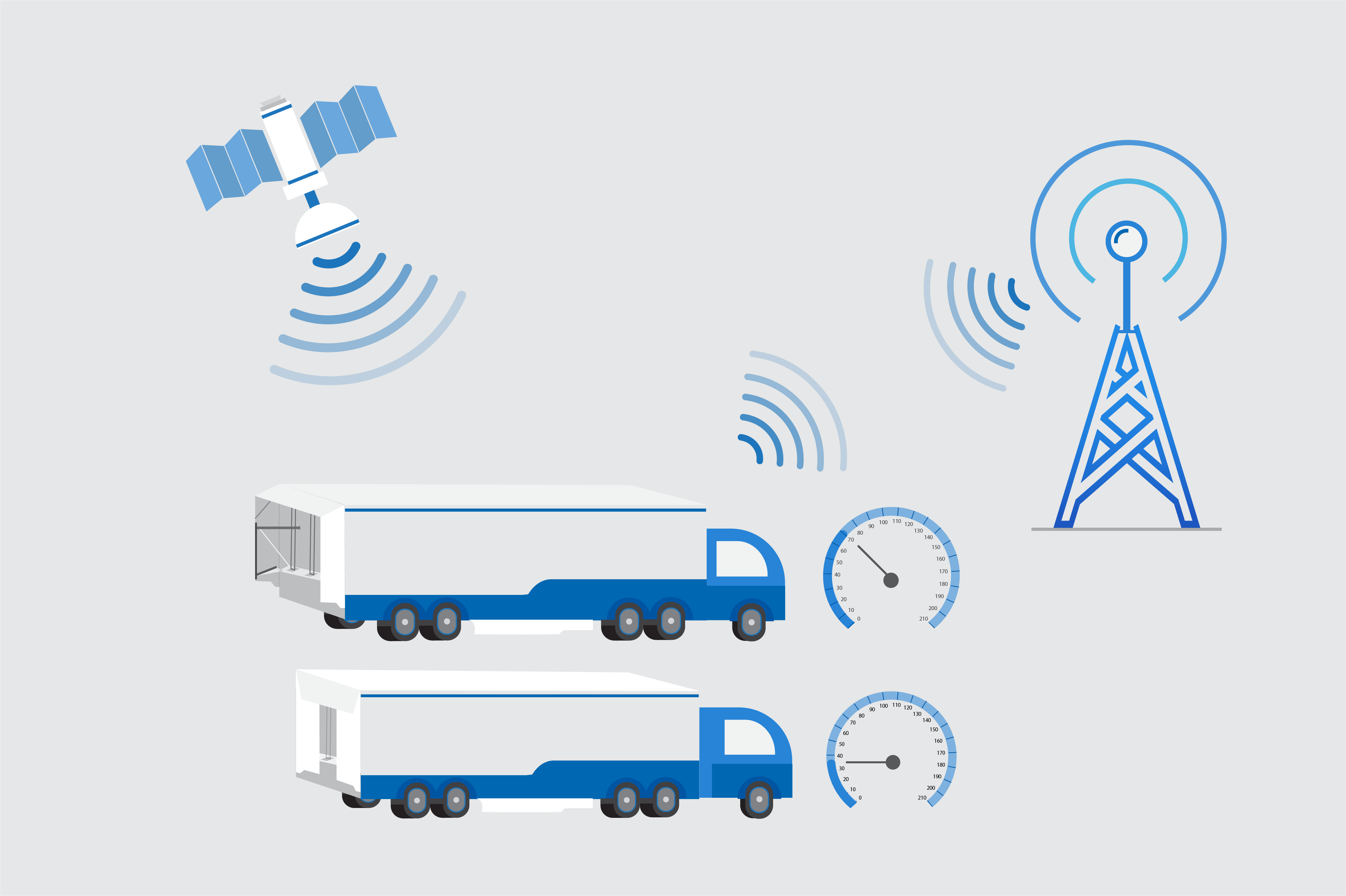 Infographic of truck GPS system