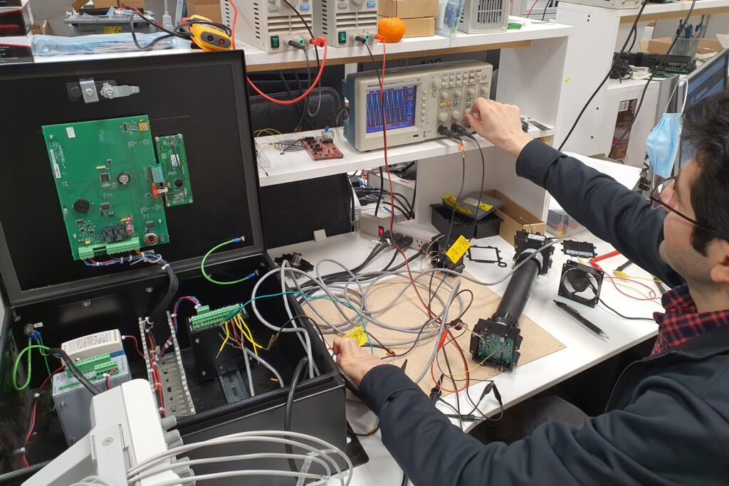 Testing the performance by electronic engineer